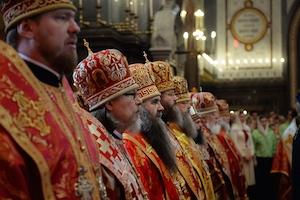 Митрополит Марк сослужил Святейшему Патриарху Кириллу на литургии в день памяти святых равноапостольных Мефодия и Кирилла